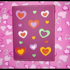 Pink Hearts Journal Notebook RARE